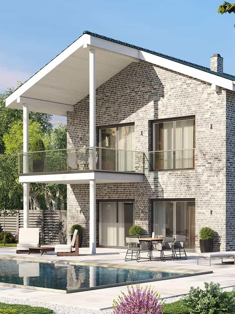 Individuelles Einfamilienhaus als Massivhaus bauen