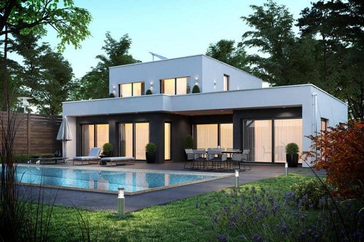 Bauhaus Haus mit Dachterrasse - Sapientia