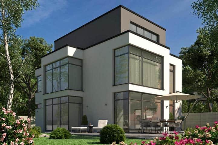 Bauhaus Haus mit Garage - Sententia