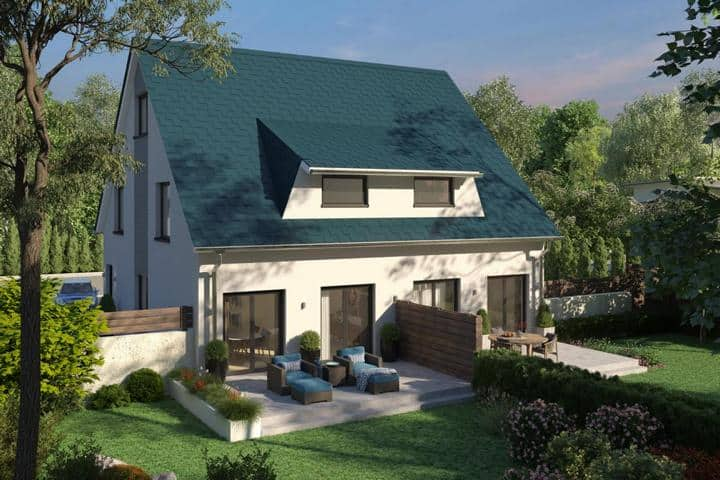 Doppelhaus bauen mit Gaube - Amiticia