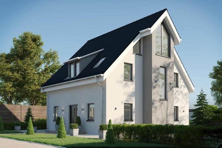 Einfamilienhaus bauen mit Erker und Gaube - Veneratio