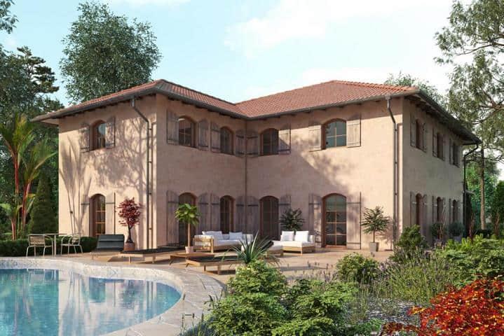 Mediterrane Stadtvilla bauen mit Garage - Regia