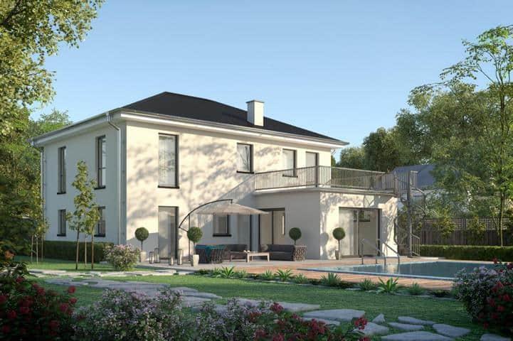 Stadtvilla bauen mit Erker und Dachterrasse - Maiestas