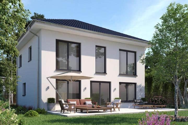 Stadtvilla bauen mit vielen bodentiefen Fenstern - Opus